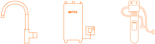 QETTLE Mini Complete System. Includes the QETTLE Mini tap, Boiler and Filter Housing with a filter to get you started
